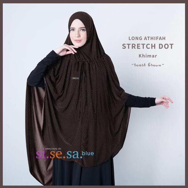Sisesa Long Athifah Stretch Dot Khimar