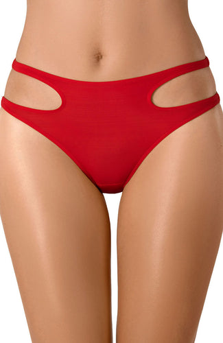 APPEALING - Rød brief trusse med cut-out