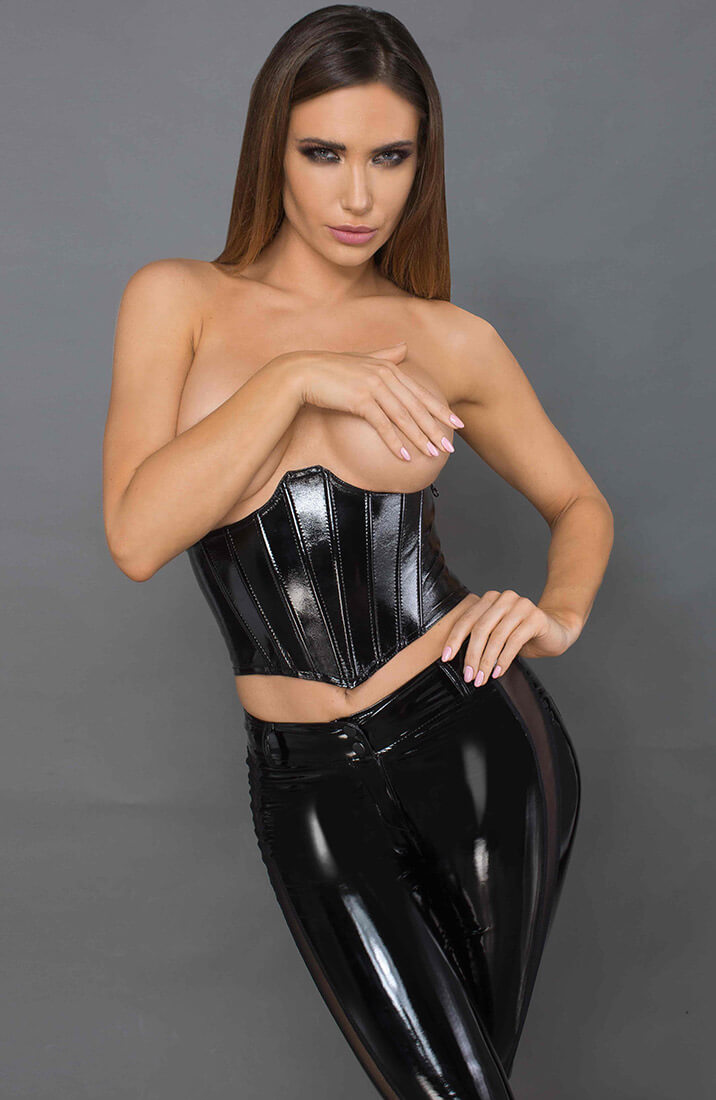 Sort glossy underbust - Lacquered Vibes