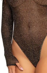 Bodysuit med guld glimmer - Your Boo