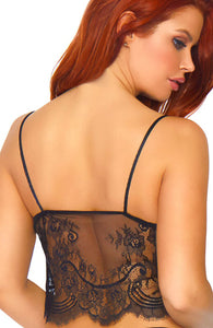 Camisole top og boyshorts - Eyelash Lace