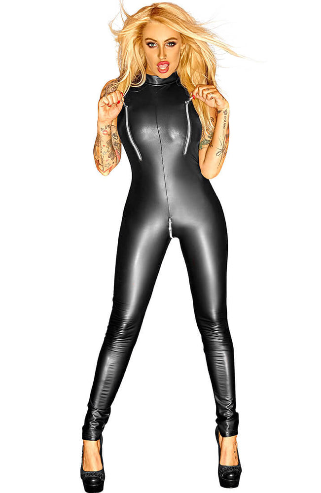 Wetlook catsuit uden ærmer - Make It or Break It