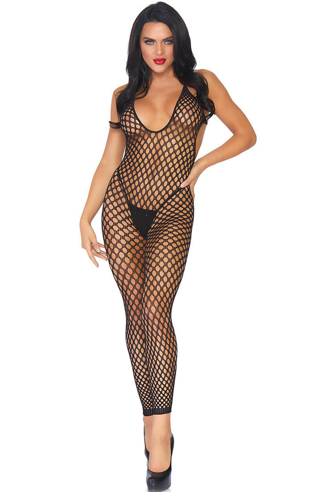 Cut-out net catsuit - Nighttime Hunt