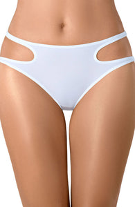 DIVINE - Hvid brief trusse med cut-out