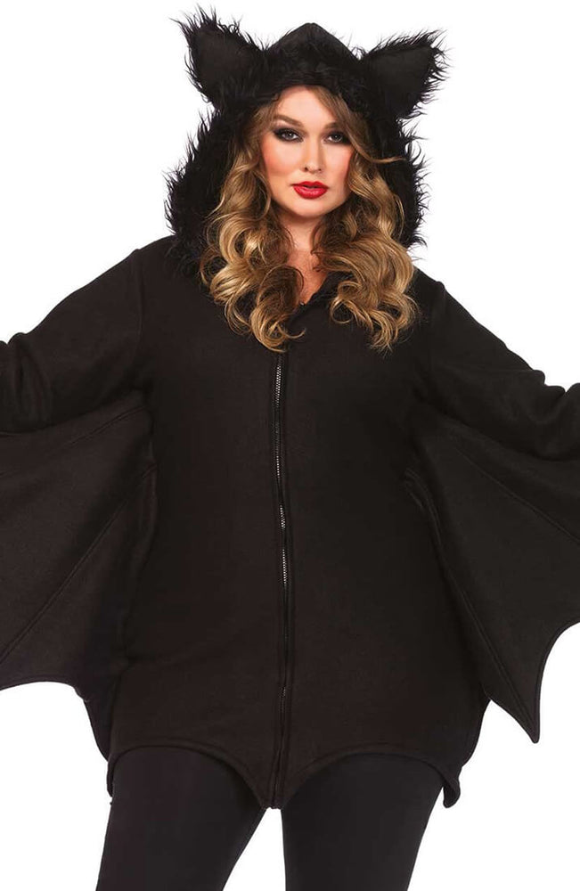 Plus Size Flagermus kostume - Flirty Fleece Bat