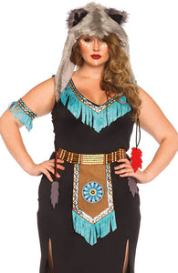 Plus Size Indianer kostume - Wolf Warrior