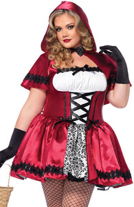 Plus Size Rødhætte kostume - Red Riding Hood