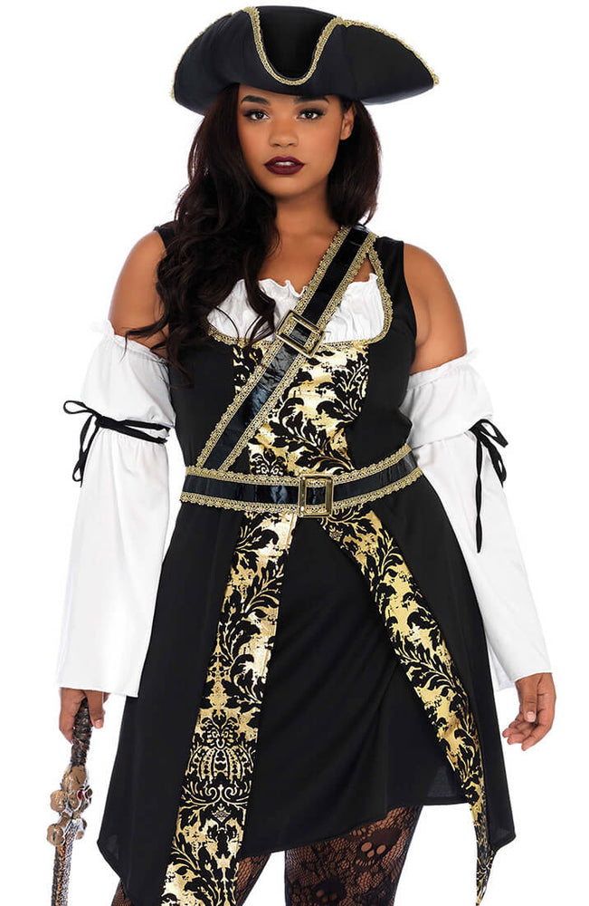 Plus Size Pirat kostume - Black Sea Buccaneer