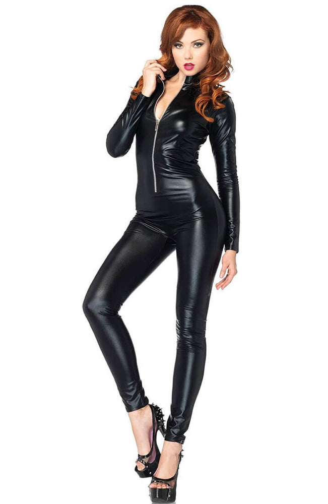 Sort DIY wetlook basic catsuit