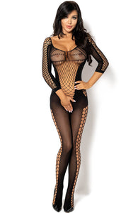 Sort cut-out net catsuit - Lucelia