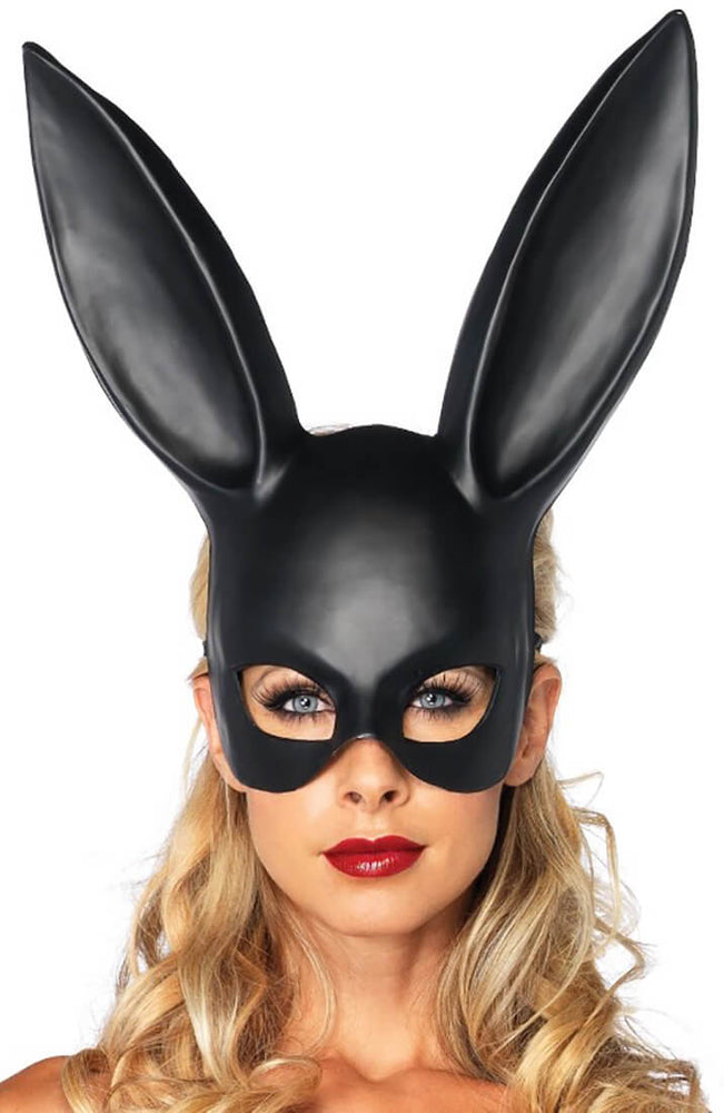 Sort rabbit maske - Masquerade Rabbit