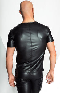 Wetlook T-shirt med V front - My Will