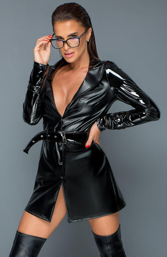 Wetlook & PVC trench coat - Lust For Me