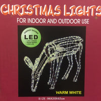 Motorised Reindeer Eating Warm White 110x65x25