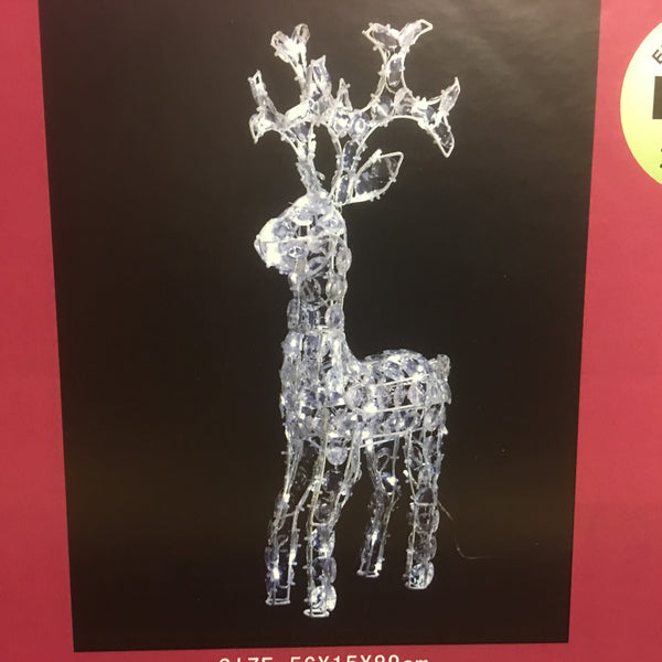 Reindeer with Twinkle Effect 89x15x56