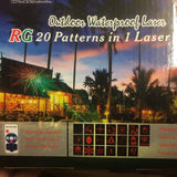Laser Light Red Green 20 pattern