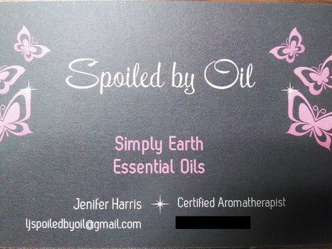 LJ Spoiled By Oil Business Card on American Gypsy Herbalist