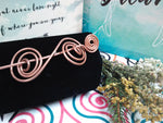 CU+ Wear Copper, Hand-Made Copper Spiral Hair-Pin