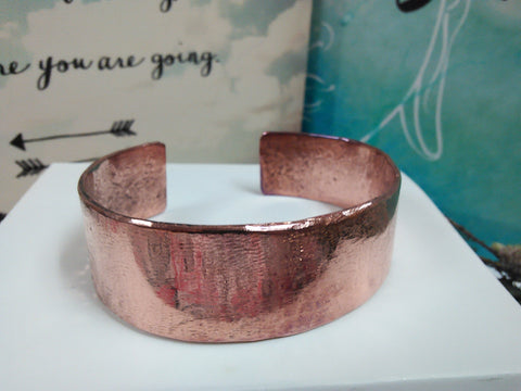 CU+ Wear Copper, Wide Cuff Hand-Made Copper Bracelet