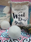 Simply Earth- New Zealand Wool Dryer Balls on American Gypsy Herbalist