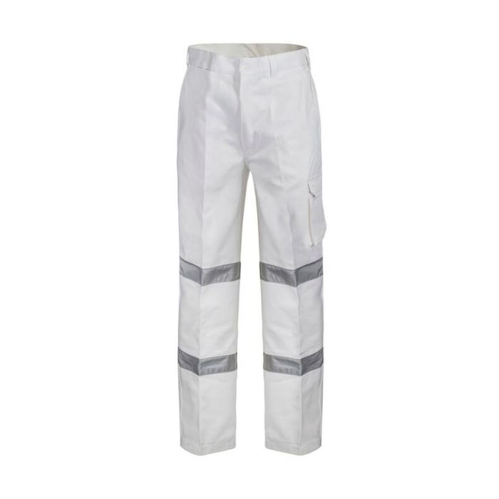 WorkCraft Cotton Drill Cargo Pant with R/Tape