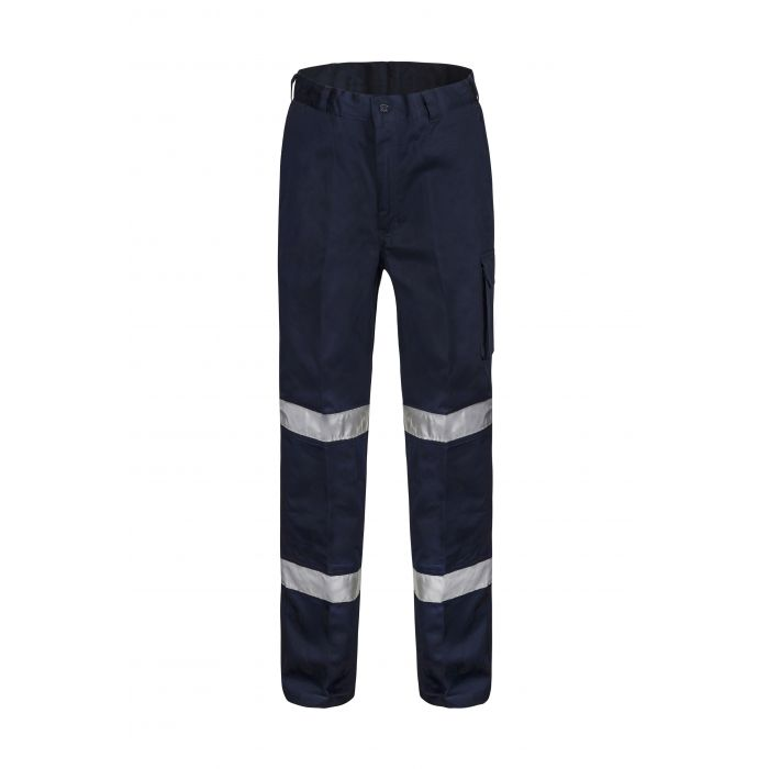 WorkCraft Mid-Weight Cotton Drill Cargo Pant with R/Tape