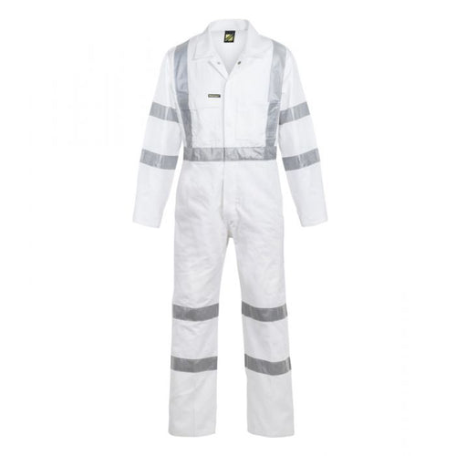 WorkCraft Cotton Drill Coverall with R/Tape