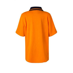 Kids Two Tone Short Sleeve Mircomesh Polo