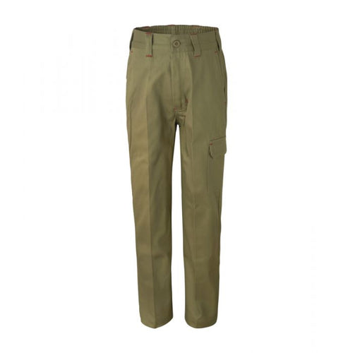 Kids Mid-Weight Cargo Cotton Drill Trouser