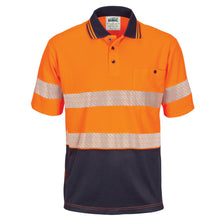 Load image into Gallery viewer, Hi Vis Segmented Taped Micromesh Polo Short Sleeve