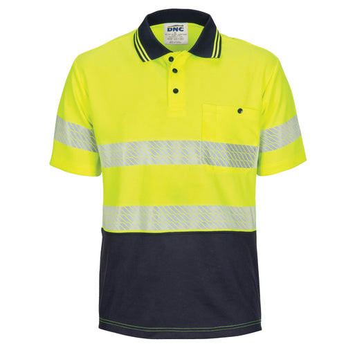 Hi Vis Segmented Taped Micromesh Polo Short Sleeve
