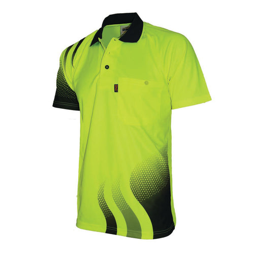 Wave Hi-Vis Sublimated Polo