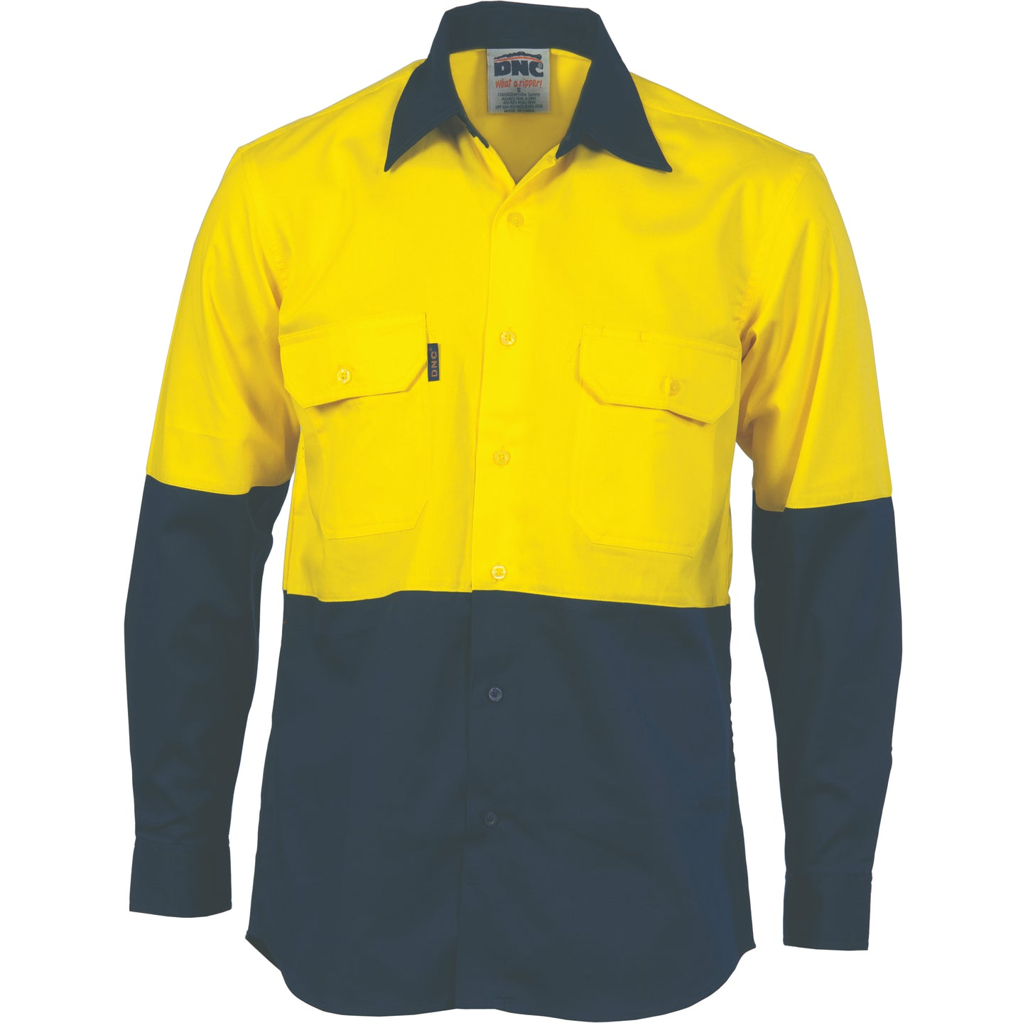 HiVis Two Tone Cotton Drill Shirt - long sleeve