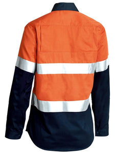 Women's 3M Taped Two Tone Hi Vis Cool Lightweight Shirt - Long Sleeve