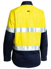 Load image into Gallery viewer, Women's 3M Taped Two Tone Hi Vis Cool Lightweight Shirt - Long Sleeve