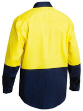Load image into Gallery viewer, Bisley 2 Tone Hi Vis Drill Shirt - Long Sleeve