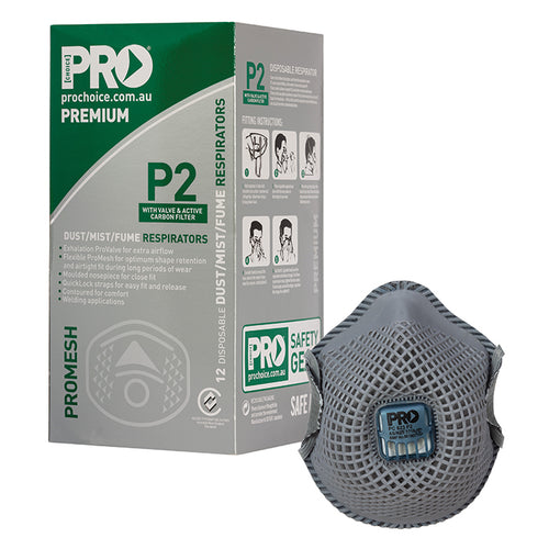 Dust Masks Promesh P2+Valve+Carbon