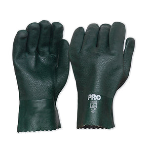 27cm Green Double Dipped PVC Gloves