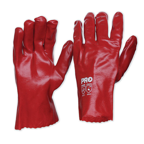 27cm Red PVC Gloves