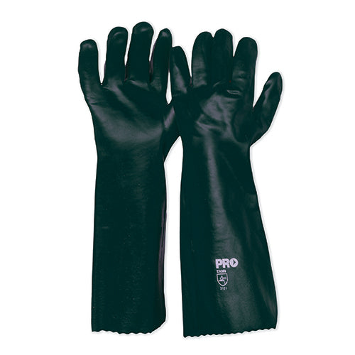 45cm Green Double Dipped PVC Gloves