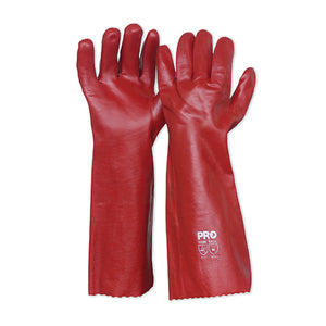 45cm Red PVC Gloves