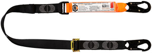 Elite Single Leg Sock Absorbing 2M Adjustable Lanyard with Hardware SN X2 - WLA1SNSN