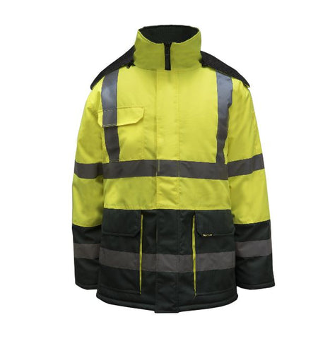 Two Tone Freezer Jacket With Reflective Tape