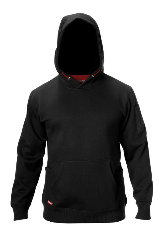 Brushed Fleece Hoodie - Blk