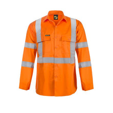 Load image into Gallery viewer, WorkCraft Hi Vis Long Sleeve Shirt with X-Back & R/Tape