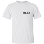 Ride Baja T-Shirt Left Front Print Only - White