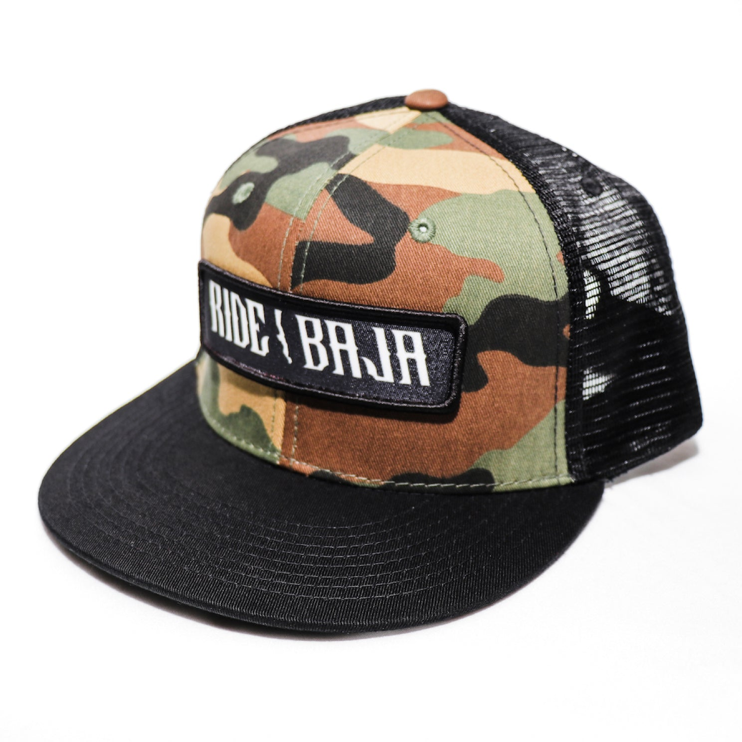 Classic Ride Baja Patch Hat - Green Camo
