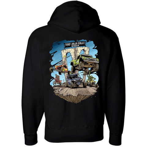 Hoodie Ride Baja Rally San Felipe - Black
