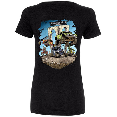 Ride Baja San Felipe Women's V-Neck - Black