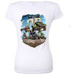 Ride Baja Rally San Felipe Women's V-Neck - White